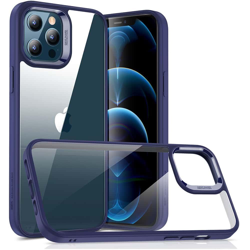 iPhone 12/12 Pro Classic Hybrid Shock-Absorbing Phone Case Blue