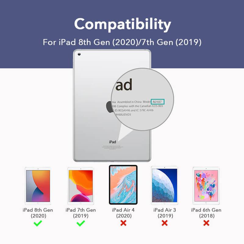 iPad 8th Gen 2025 Ascend Trifold Hard Case