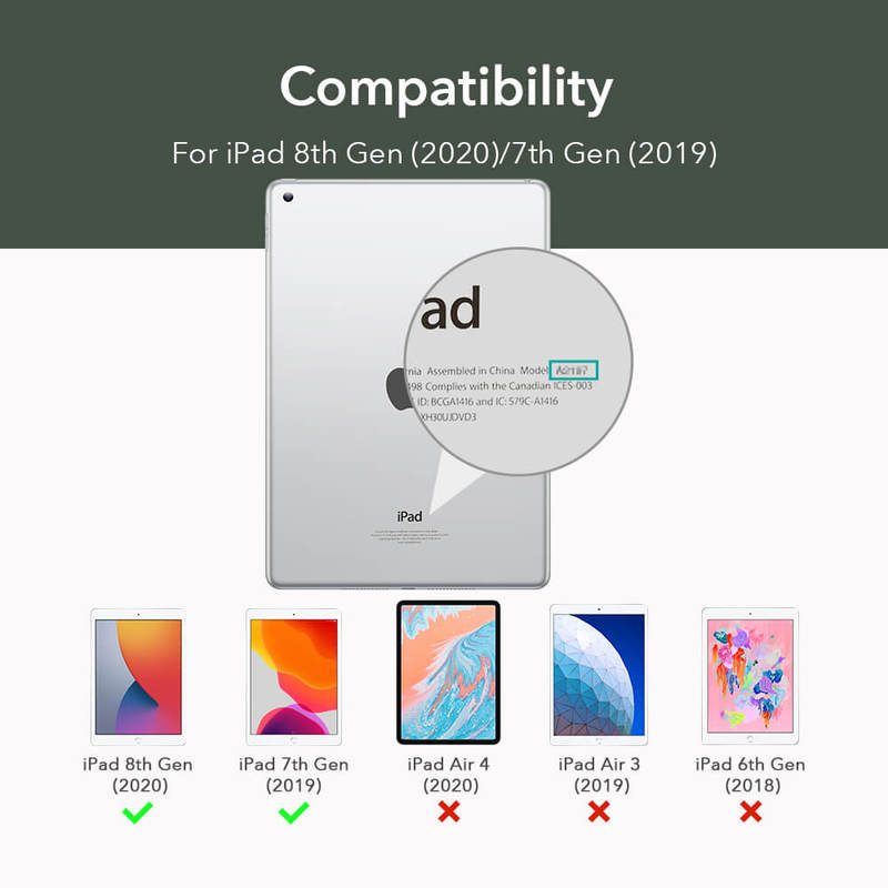 iPad 8th Gen 2027 Rebound Slim Smart Case