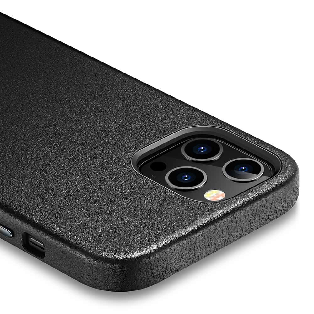 iPhone 1212 Pro Leather Case Black1
