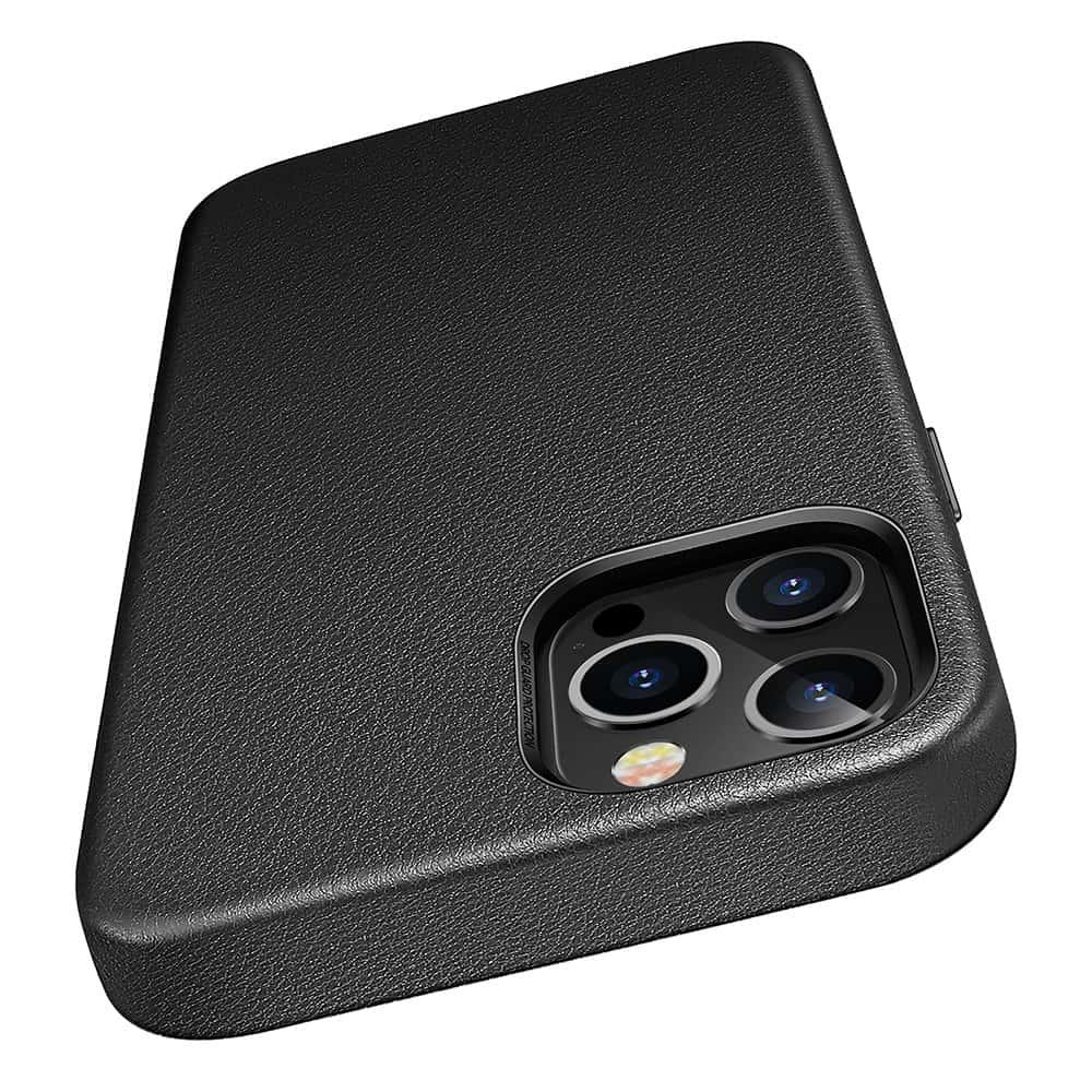 iPhone 1212 Pro Leather Case Black2