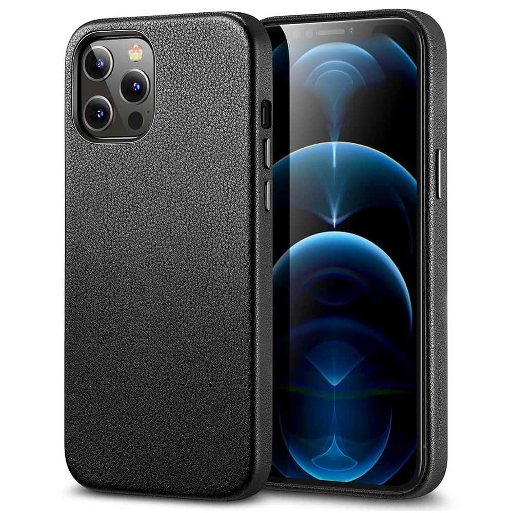 iPhone 1212 Pro Leather Case Black3