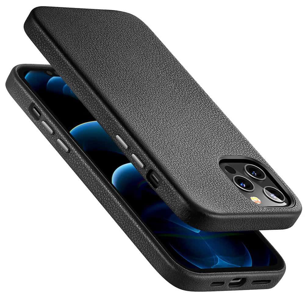 iPhone 1212 Pro Leather Case Black4
