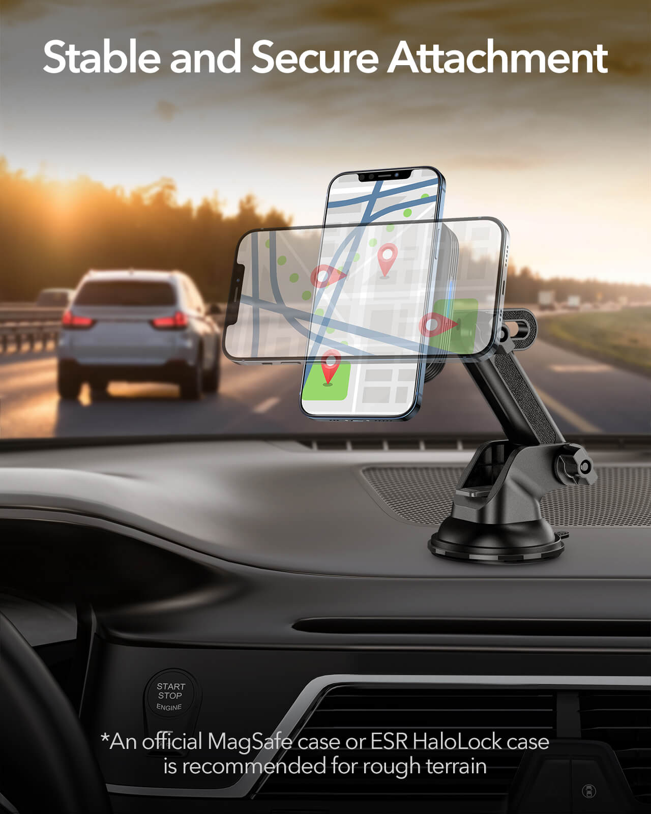 HaloLock Dashboard Wireless Charger 8