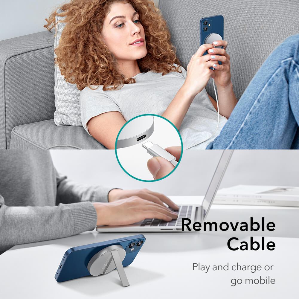 HaloLock™ Kickstand MagSafe Compatible Wireless Charger 13