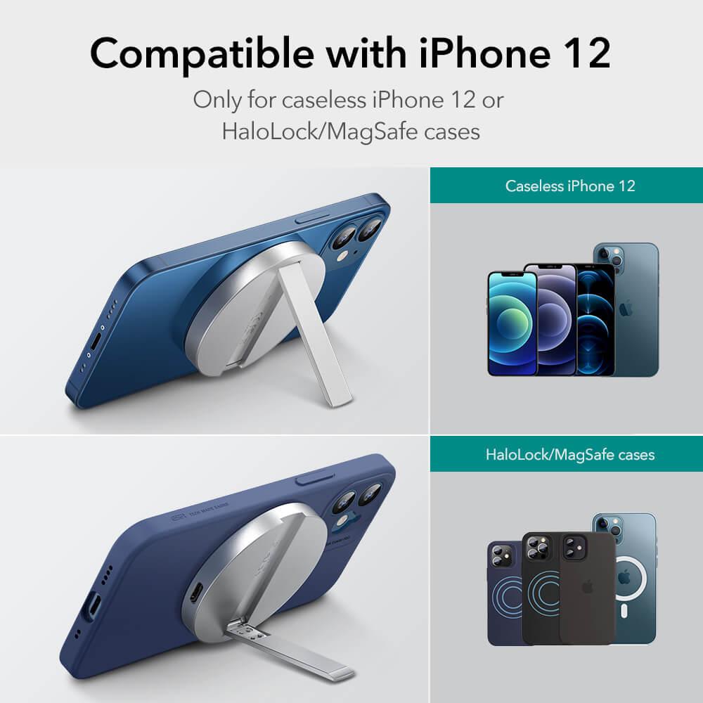 HaloLock™ Kickstand MagSafe Compatible Wireless Charger 16