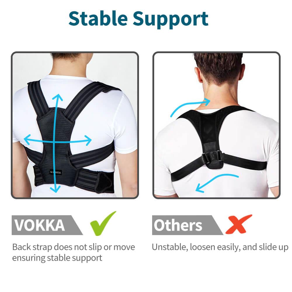 VOKKA Full Support Adjustable Posture Corrector for Men and Women 1 1