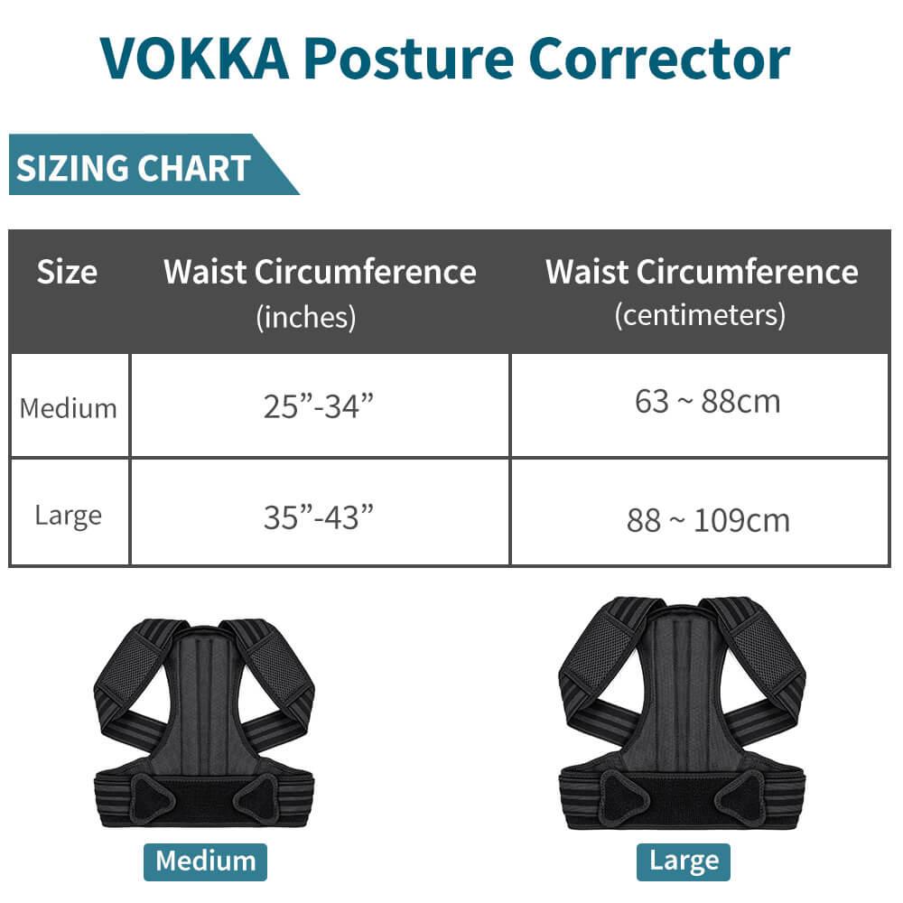 VOKKA Full Support Adjustable Posture Corrector for Men and Women 1 10
