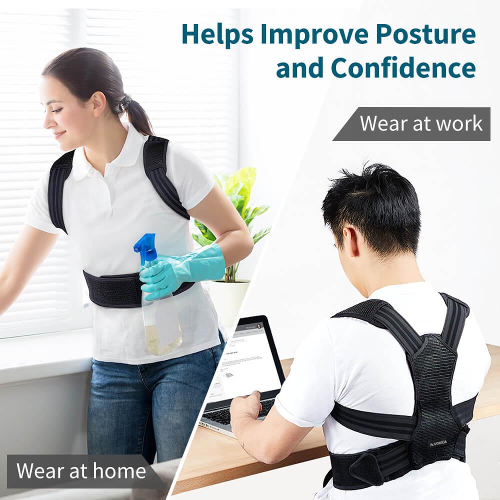 VOKKA Full Support Adjustable Posture Corrector for Men and Women 1 9