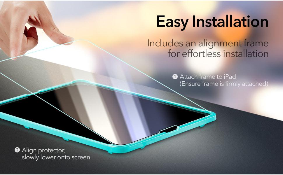 iPad Pro 12.9 (2021/2020/2018) Tempered-Glass Screen ...
