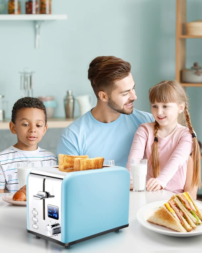 AEVO 2 Slice Retro Toaster 1