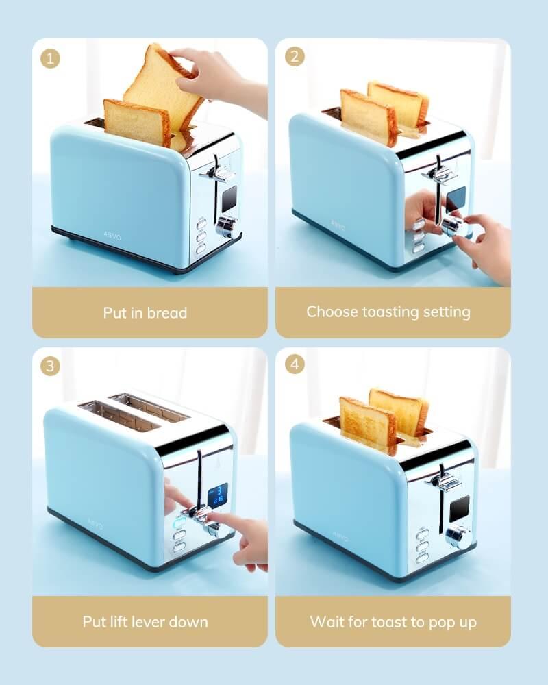 AEVO 2 Slice Retro Toaster 10