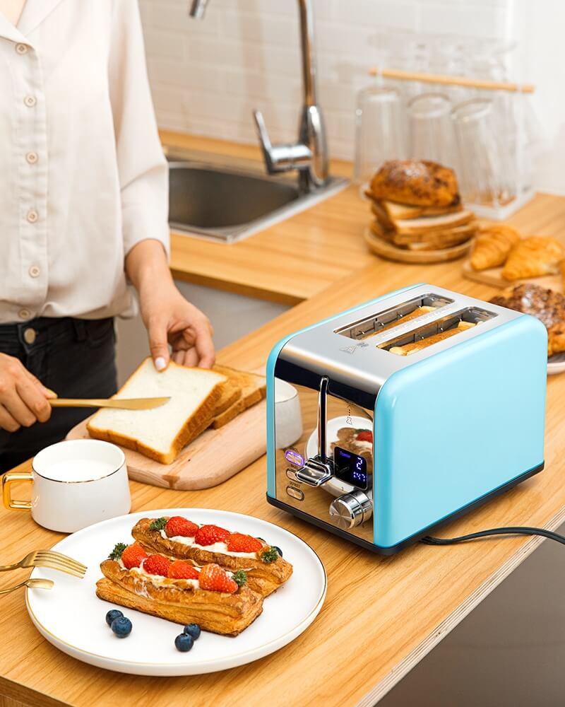AEVO 2 Slice Retro Toaster 3