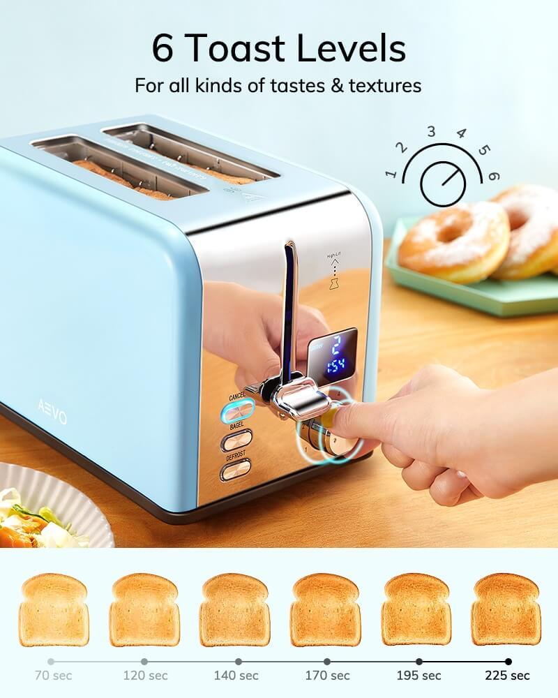 AEVO 2 Slice Retro Toaster 5