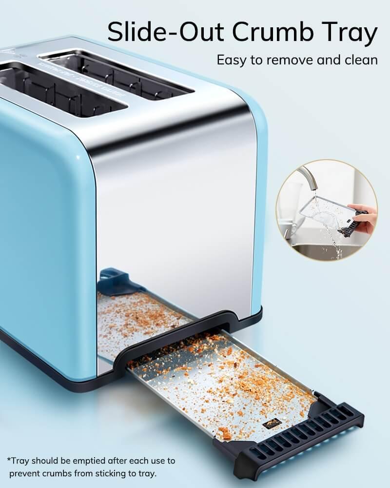 AEVO 2 Slice Retro Toaster 7