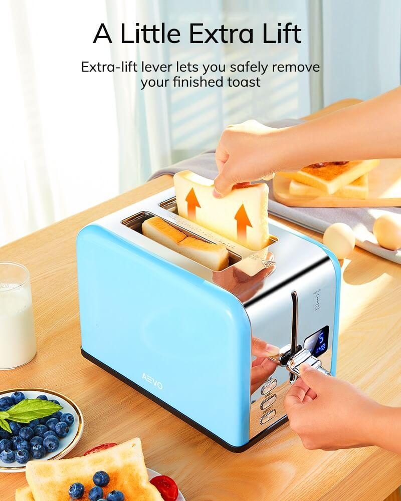 AEVO 2 Slice Retro Toaster 8