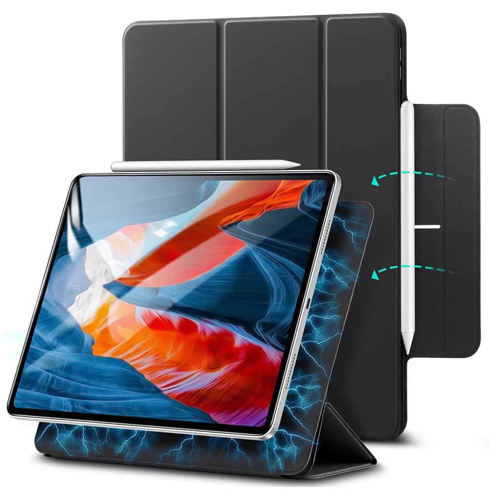 iPad Pro 12.9 2021 Rebound Magnetic Slim Case Black