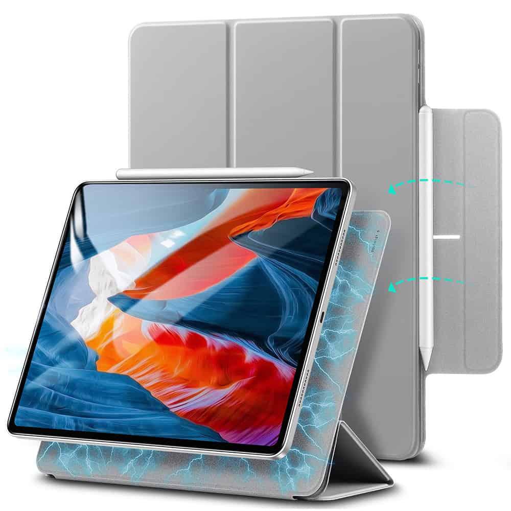 iPad Pro 12.9 2021 Rebound Magnetic Slim Case Gray