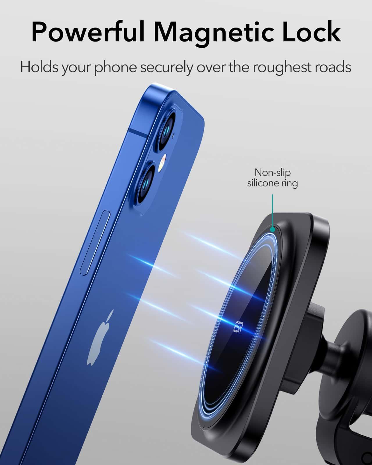 HaloLock Magnetic Car Phone Mount for iPhone 12 Series kf 3