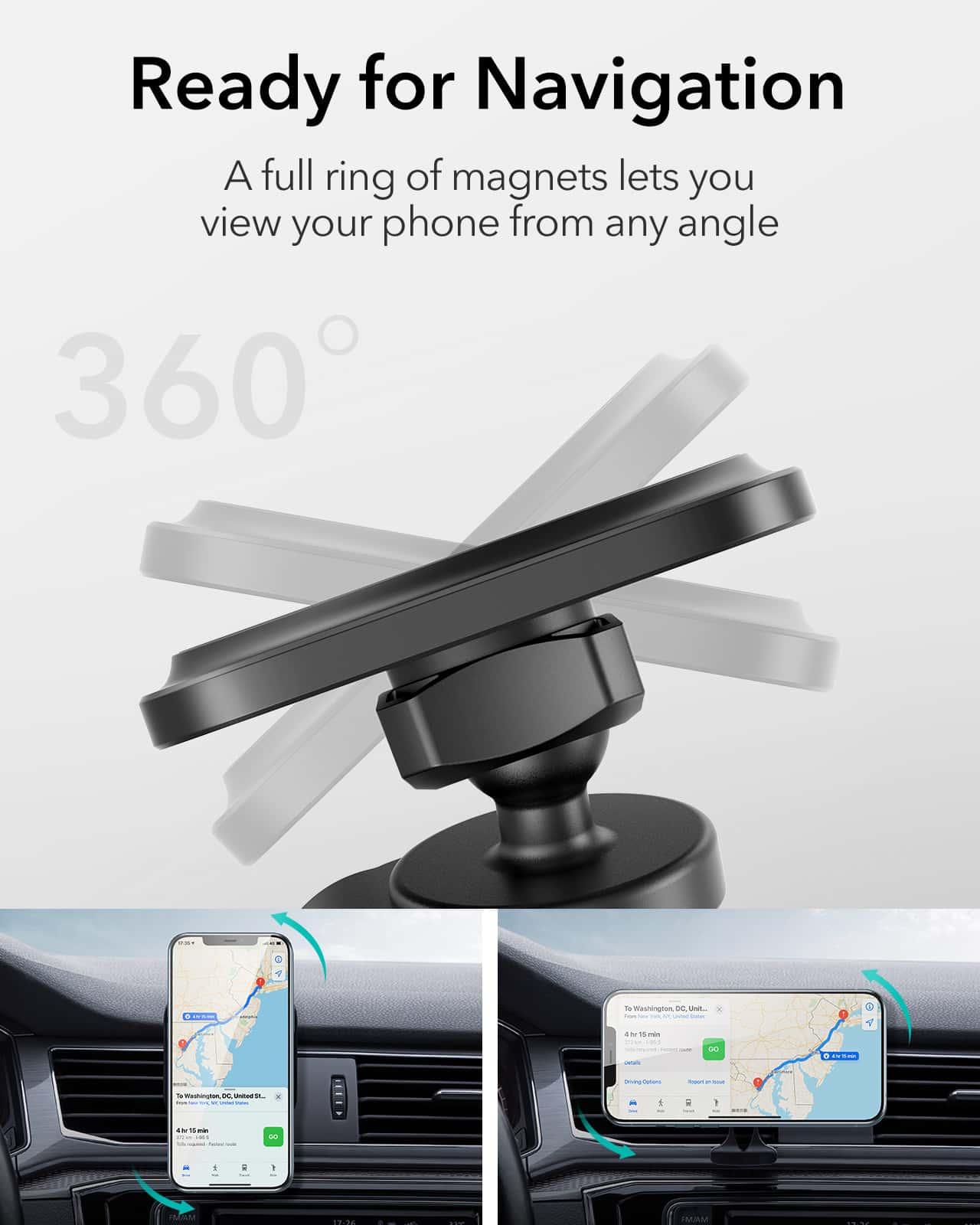 HaloLock Magnetic Car Phone Mount for iPhone 12 Series kf 5