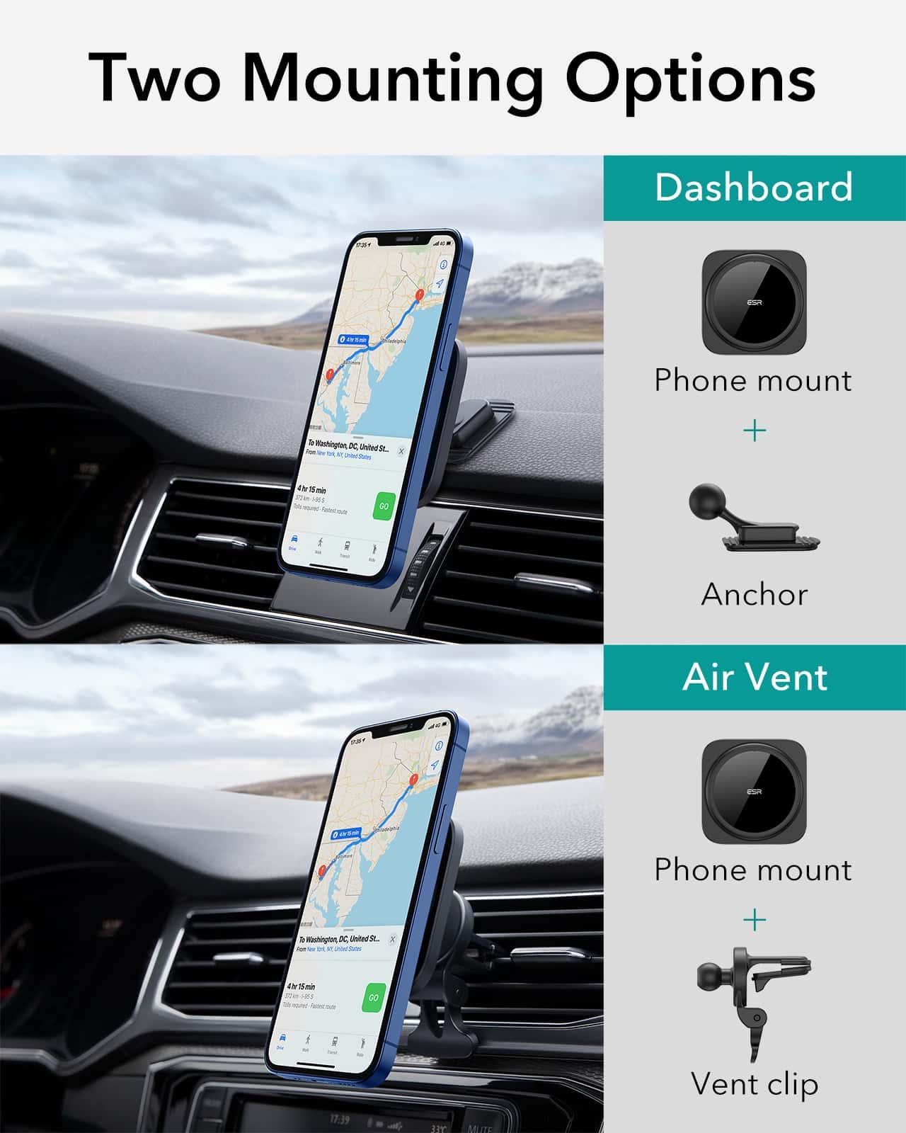 HaloLock Magnetic Car Phone Mount for iPhone 12 Series kf 6